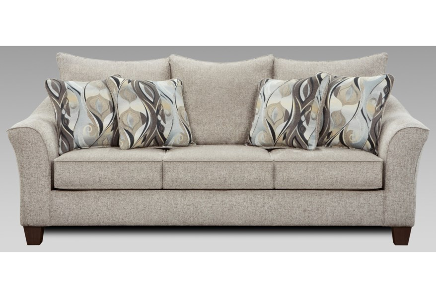 Affordable Furniture 7700 Contemporary Sofa with Flared Arms ...