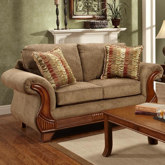 loveseat virginia stripe home garden with exposed shipping blue wood overstock today design frame product handy x free living