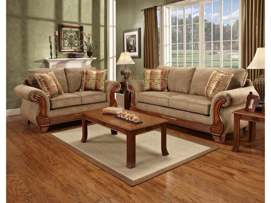 Affordable Furniture 8400Traditional Loveseat
