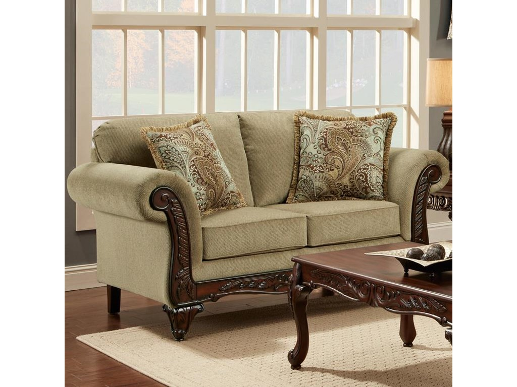 Affordable Furniture 8500Traditional Loveseat