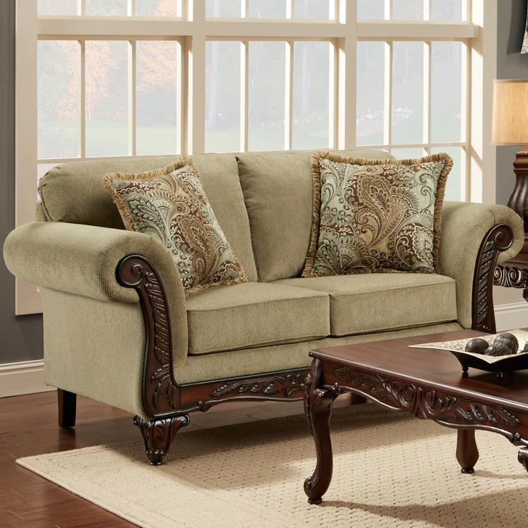 Affordable Furniture 8500Traditional Loveseat ...