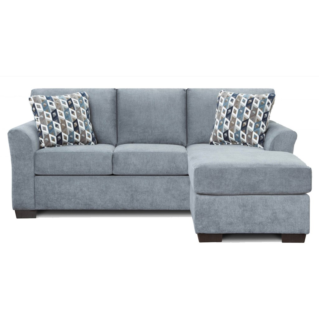 Queen Sleeper Sofa With Chaise And Flared Arms Cosmopolitan 3900