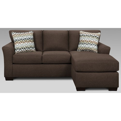 Sofa with chaise cosmopolitan 3900 by affordable for Affordable chaise sofas