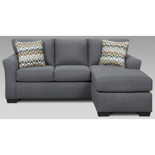 Modern Affordable Furniture Cosmopolitan 3900 Transitional Sofa with Chaise and Flared Arms Picture - Review grey sofa chaise Pictures