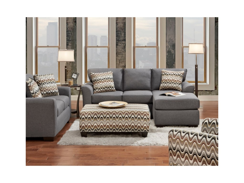 Affordable Furniture Cosmopolitan 3900Sofa with Chaise
