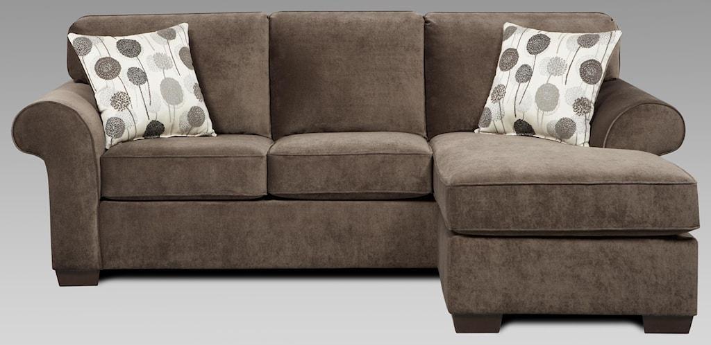 Affordable Furniture Elizabeth Elizabeth Ash Sofa Chaise And Ottoman