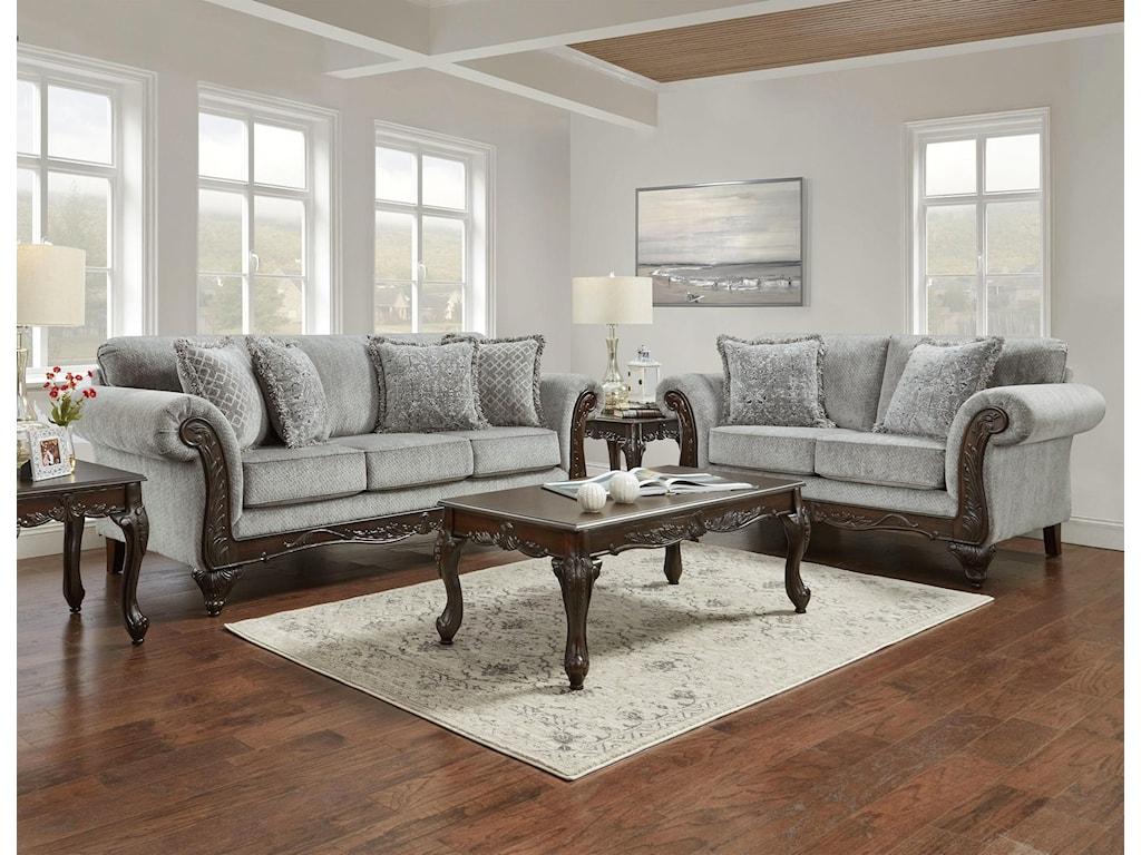 Affordable Furniture Emma Slate Sofa and Loveseat | Royal