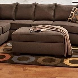 Affordable Furniture Essence Earth Transitional Cocktail Ottoman