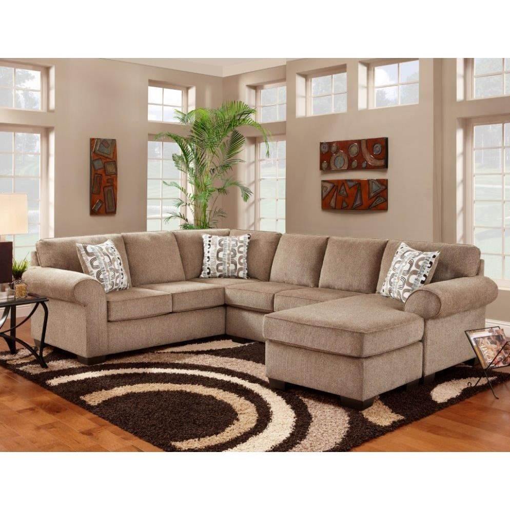 Sectional With Floating Chaise Ottoman Jess By Affordable