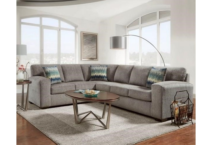 Silverton Pewter Sectional Two Piece