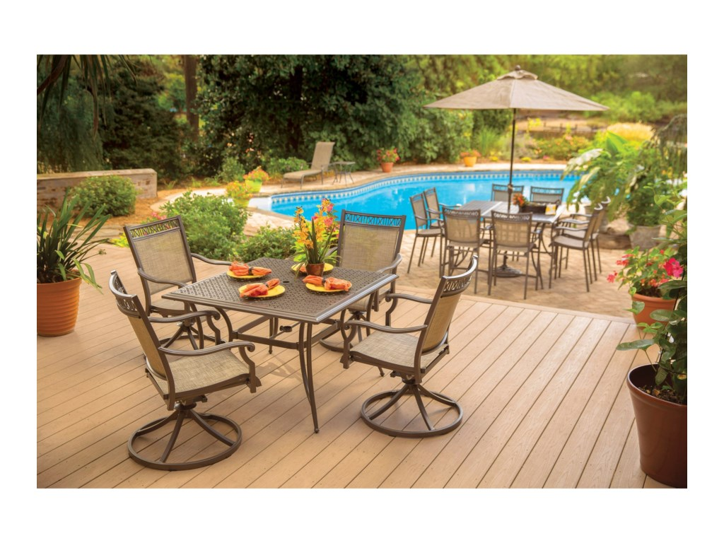 Apricity Outdoor Andover AgioSwivel Rocker Arm Chair