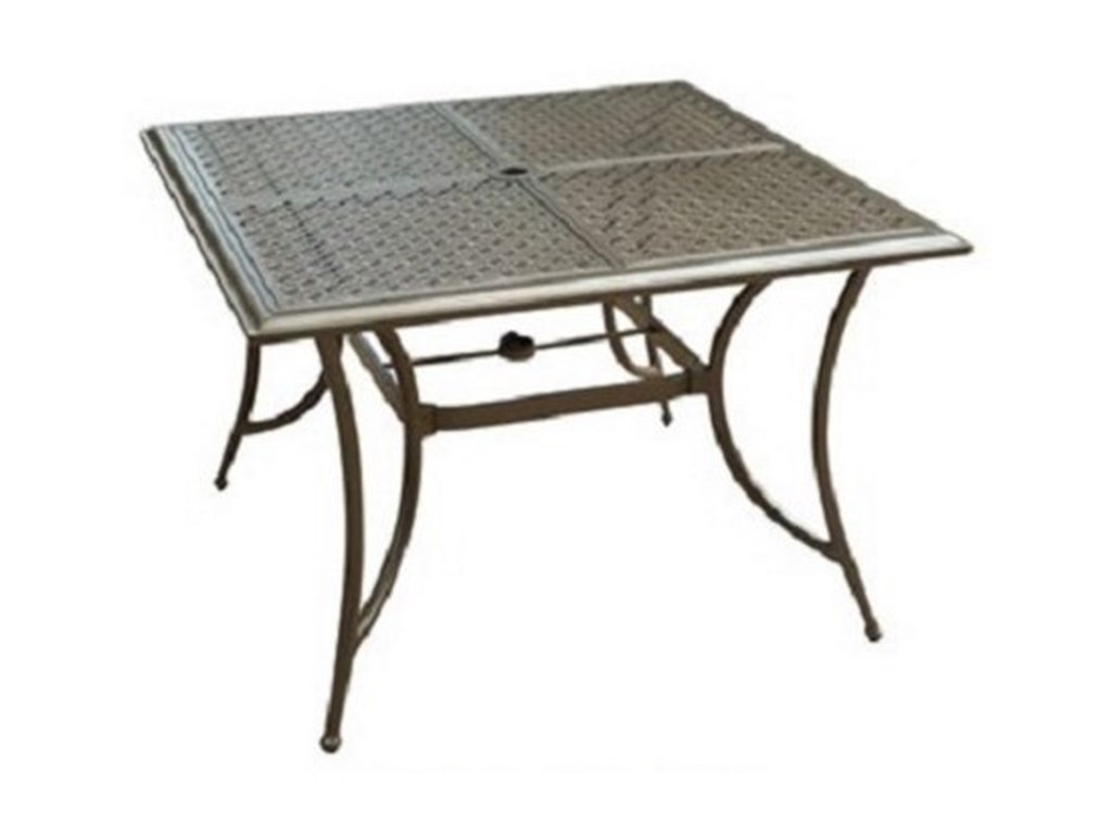Apricity Outdoor Andover AgioSquare 4 Seat Dining Table