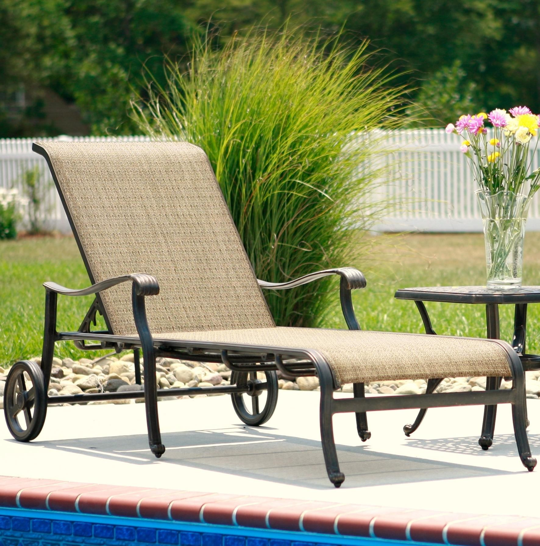 Agio Ashmost Outdoor Chaise Lounge with Wheels and Woven Body Set