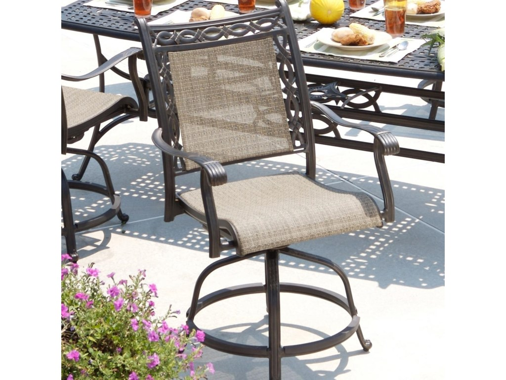 Apricity Outdoor AshmostSling Balcony Swivel Chair