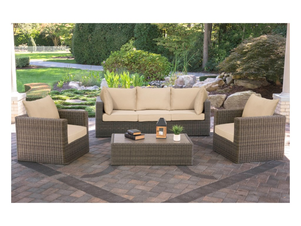 Alfresco Park BrookeOutdoor Conversation Set