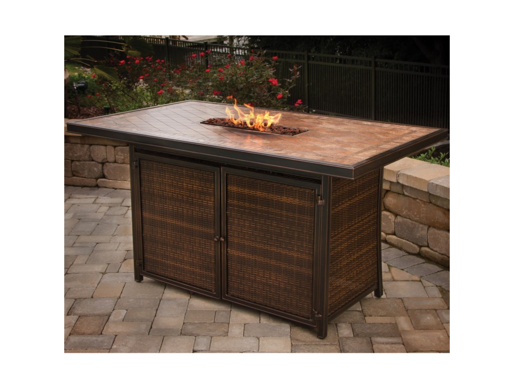 Apricity Outdoor BalmoralDining Bar with Strip Burner