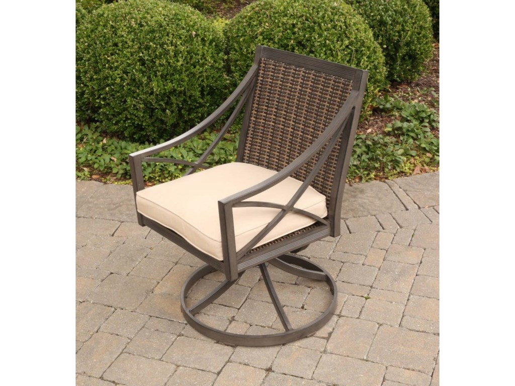 Alfresco Davenport Outdoor Swivel Rocker With Woven Back Belfort