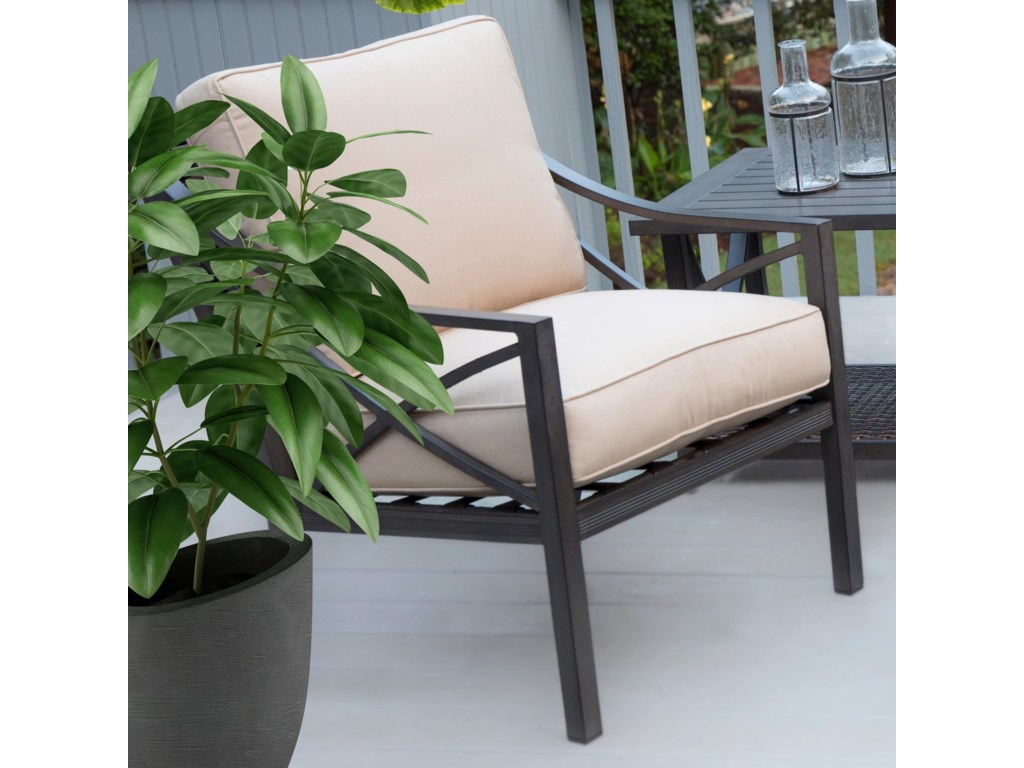 Apricity Outdoor DavenportWoven and Aluminum Deep Seating Lounge Chair