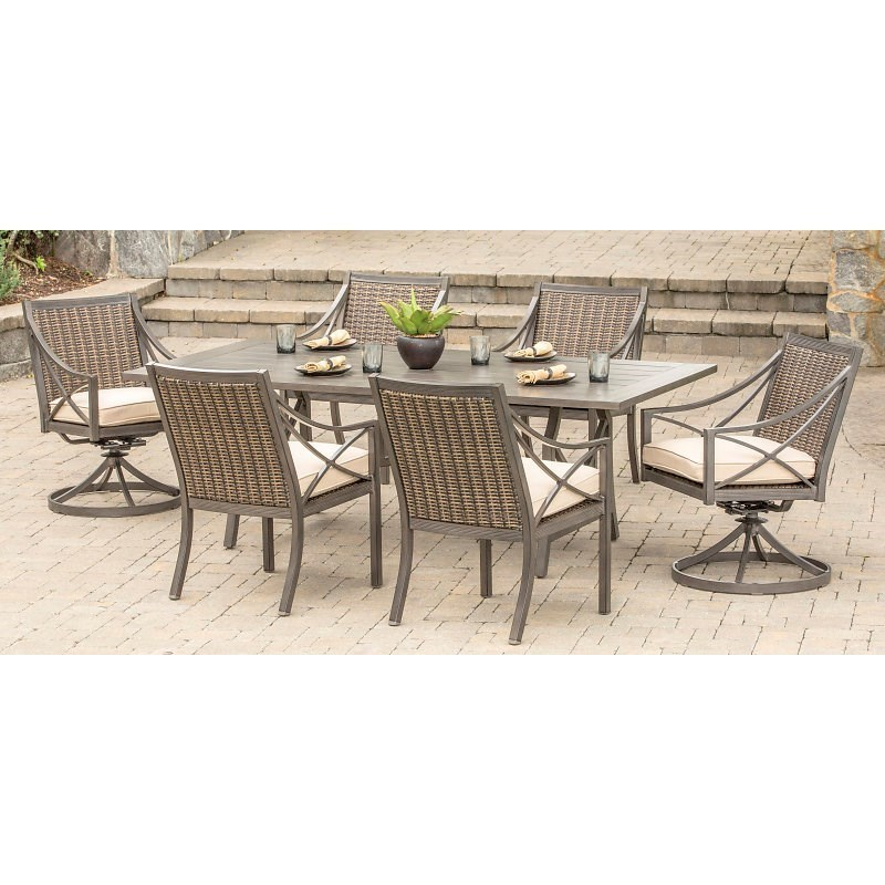 Lovely Alfresco Davenport Outdoor Dining Set With 6 Seats