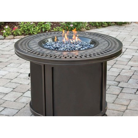 "Kensley 36"" Round Cast Top Fire Pit"