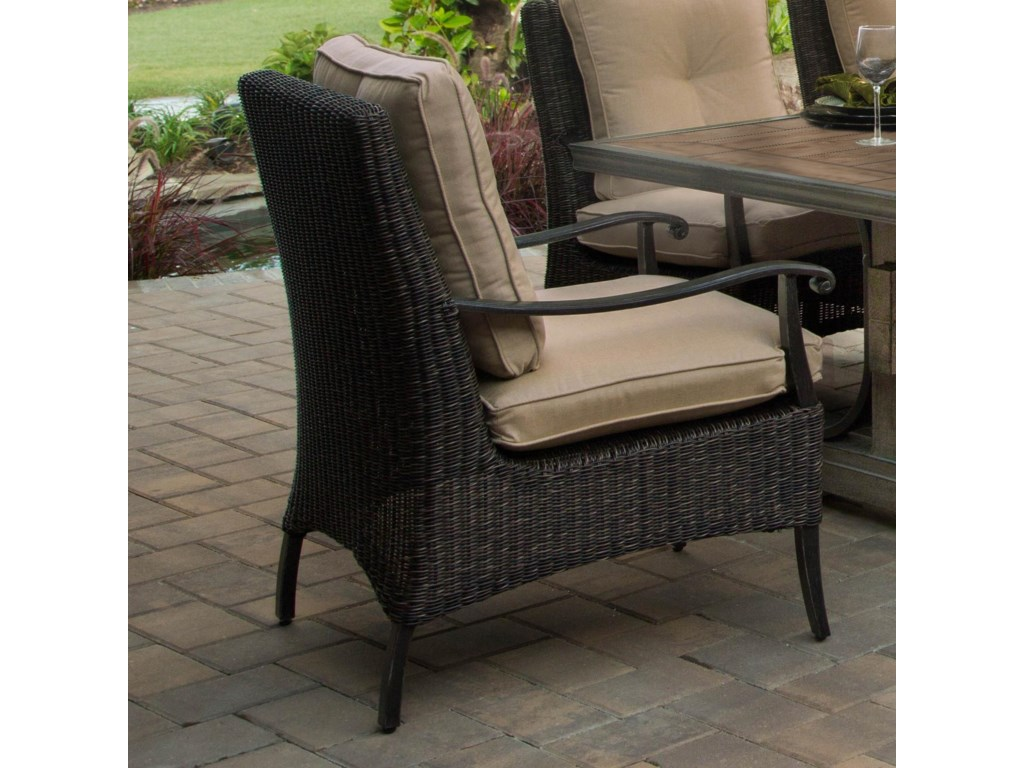 Apricity Outdoor FranklinWoven Cushion Dining Chair
