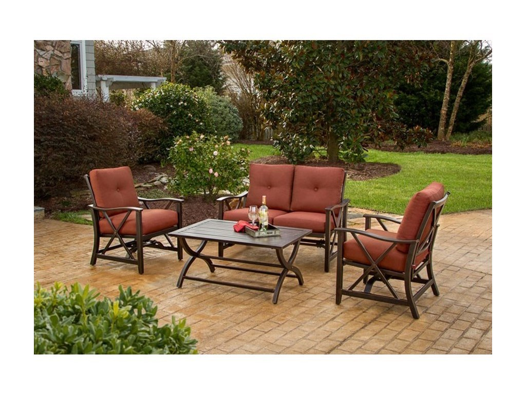 Apricity Outdoor Haywood4 Piece Loveseat and Chair Set