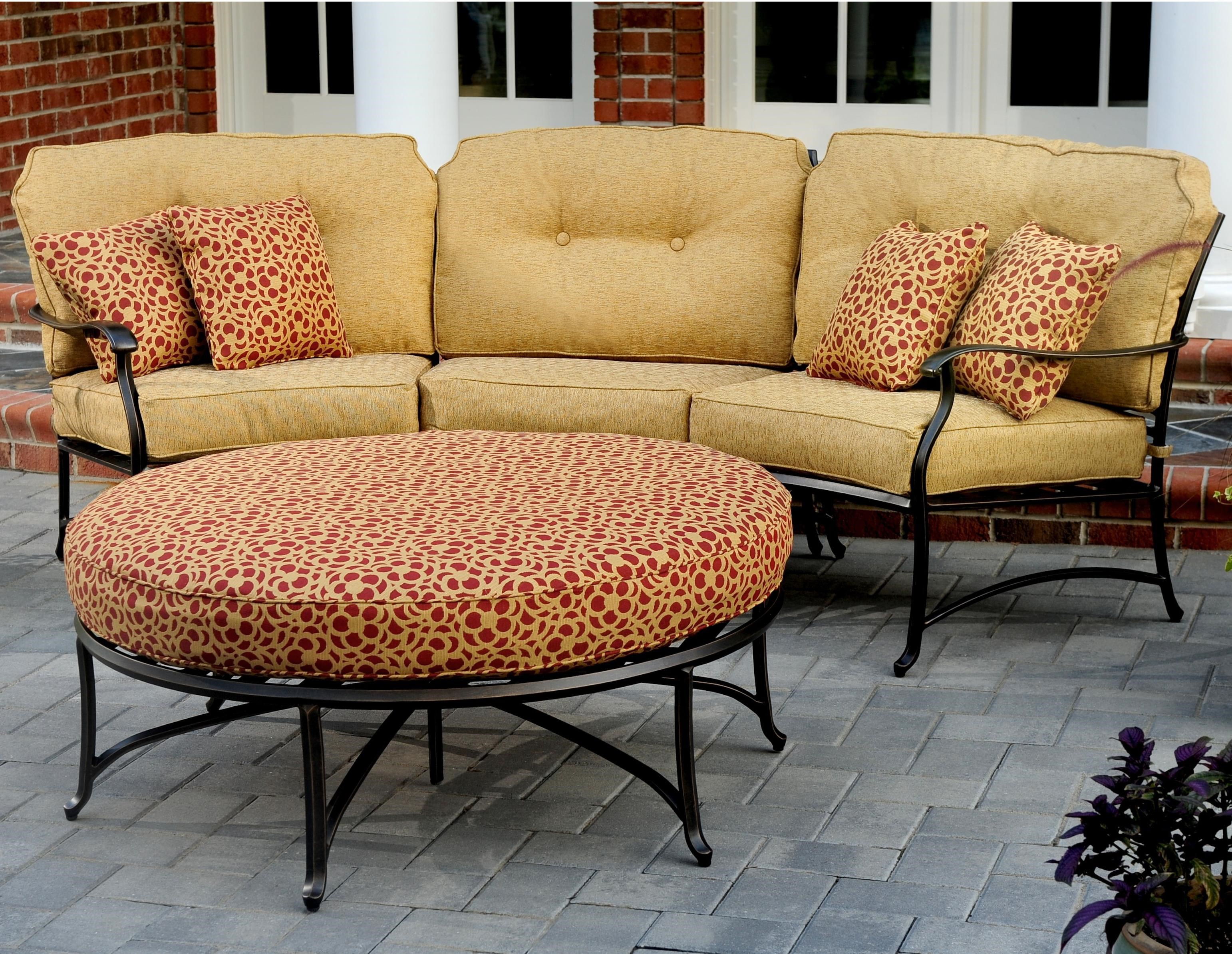 Agio Heritage Outdoor Semi Round Sectional Sofa