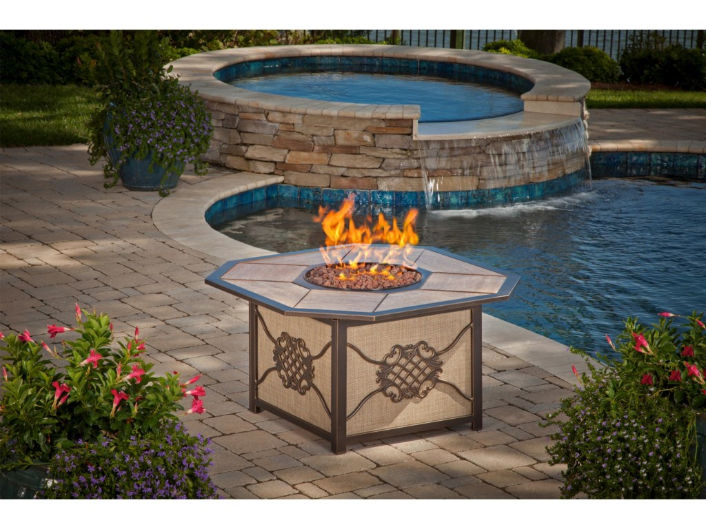 Apricity Outdoor HeritageAluminum Gas Burning Fire Pit
