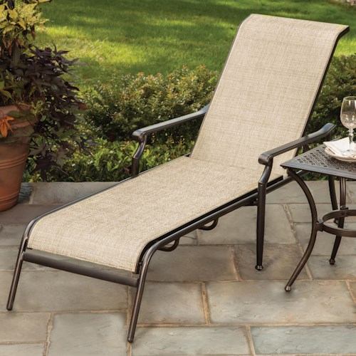 Agio manhattan sling chaise lounge wilson 39 s furniture for Agio sling chaise lounge