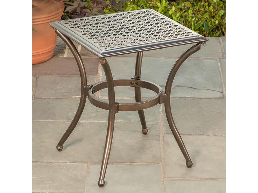 Apricity Outdoor ManhattanStamped Top Side Table
