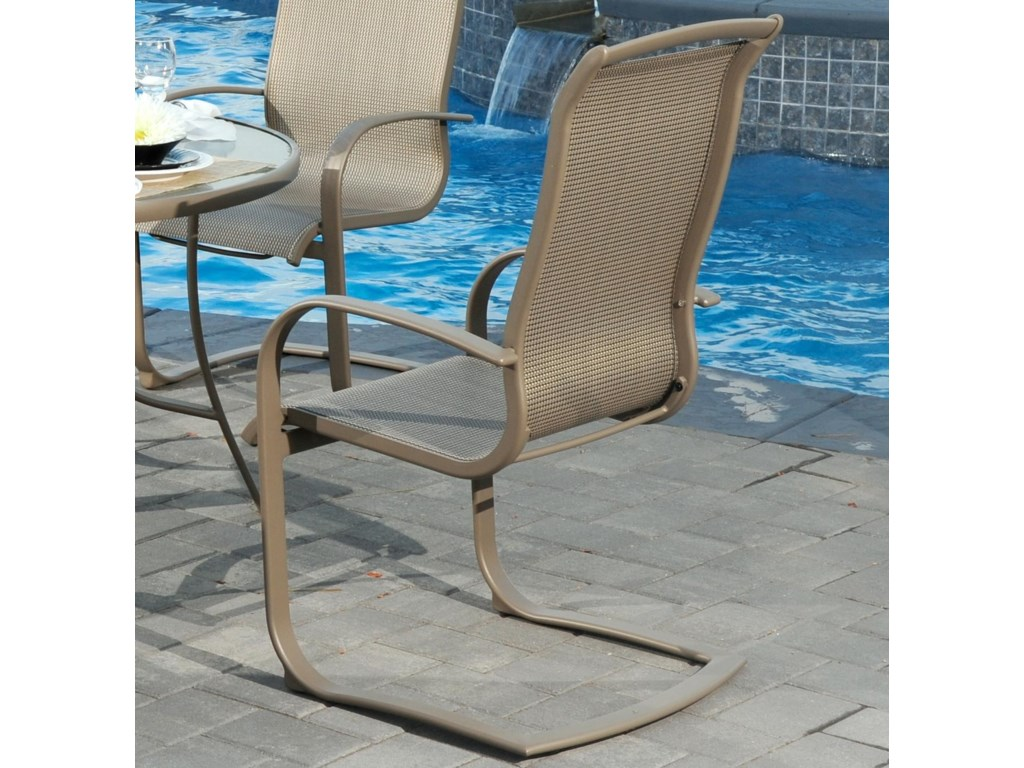 Agio Monterey 3outdoor Spring Sling Dining Chair