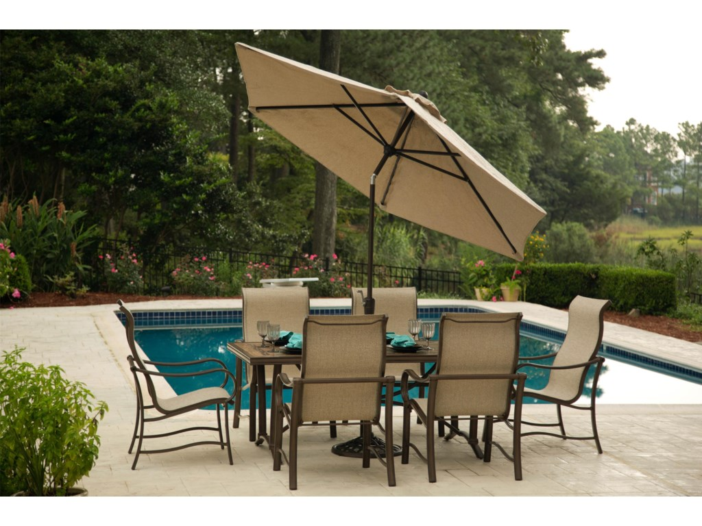 Agio SullivanDining Set with 6 Arm Chairs