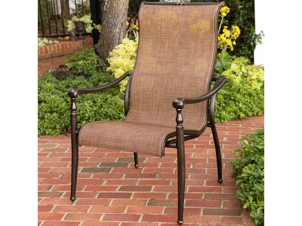 Agio Willowbrook Patio Furniture.Agio Willowbrook Sling Bucket Dining Arm Chair Westrich Furniture