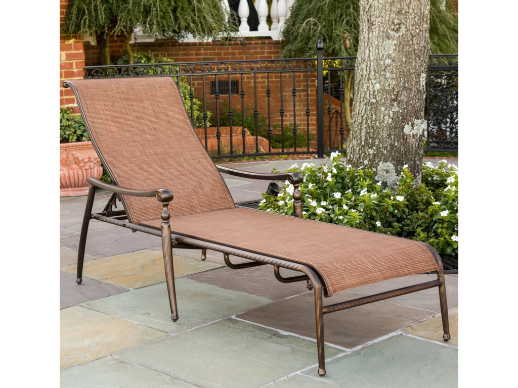 Agio Willowbrook Patio Furniture.Agio Willowbrook Traditional Aluminum Sling Chaise Westrich