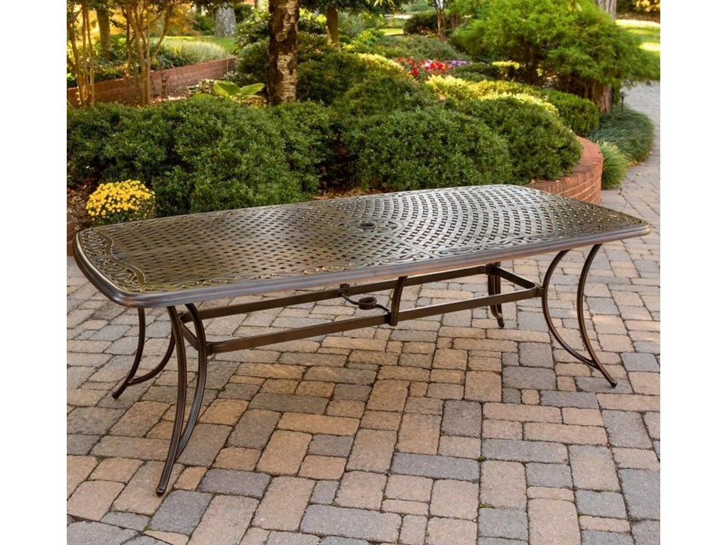Apricity Outdoor Willowbrook Cast-Top Dining Table