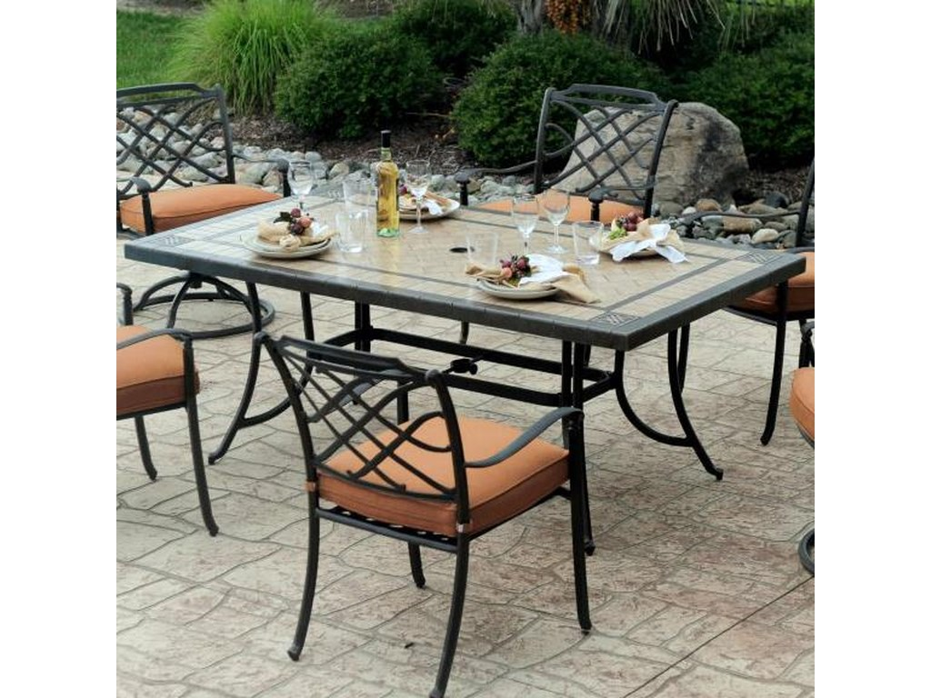 Agio Willowbrook Patio Furniture.Agio Willowbrook Rectangular Outdoor Dining Table Westrich