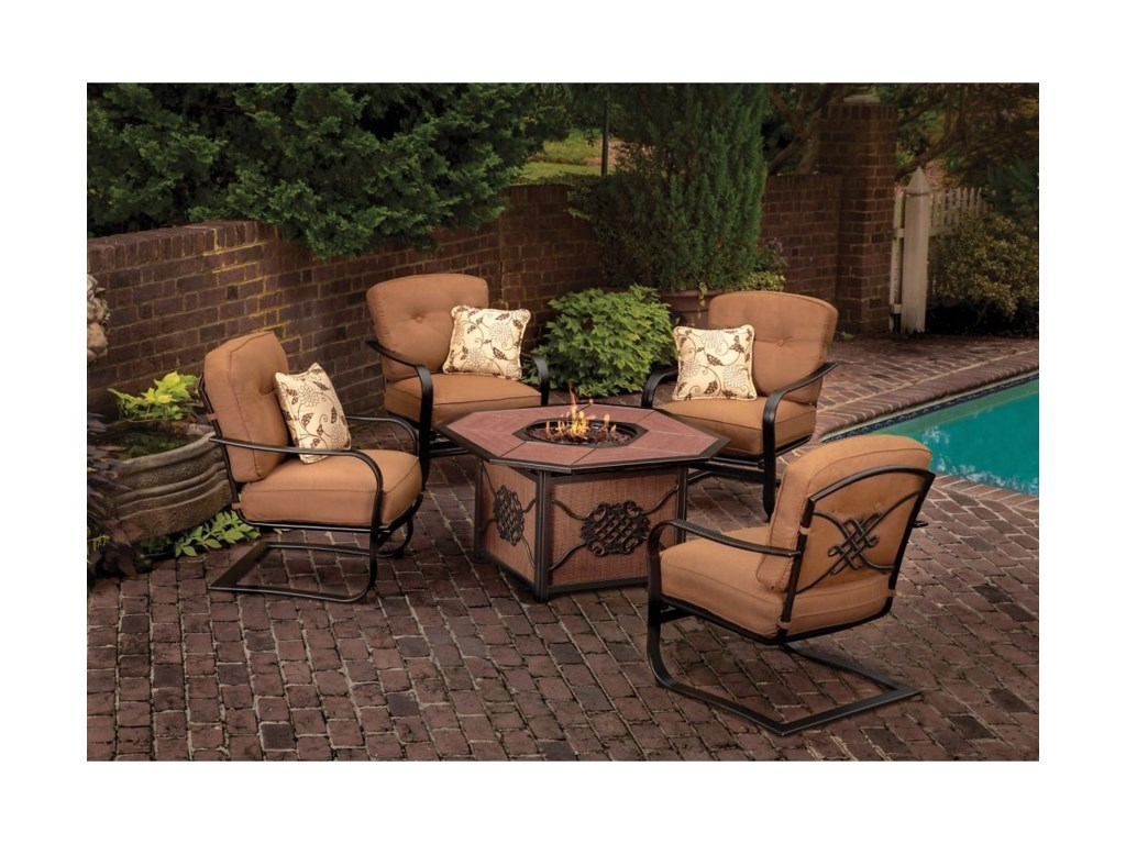 Apricity Outdoor Willowbrook Fire Pit Set