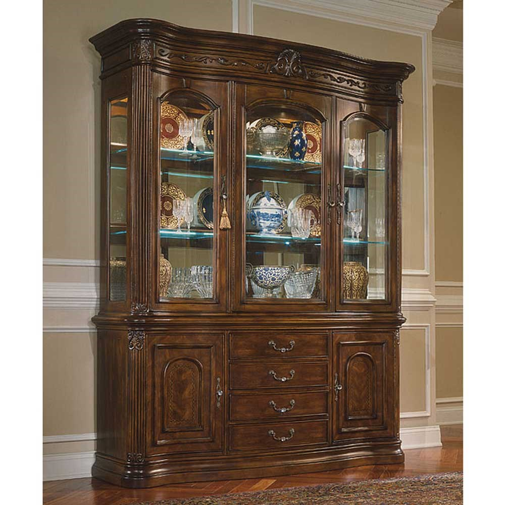 Michael Amini Villagio China Cabinet - Olinde's Furniture - China ...