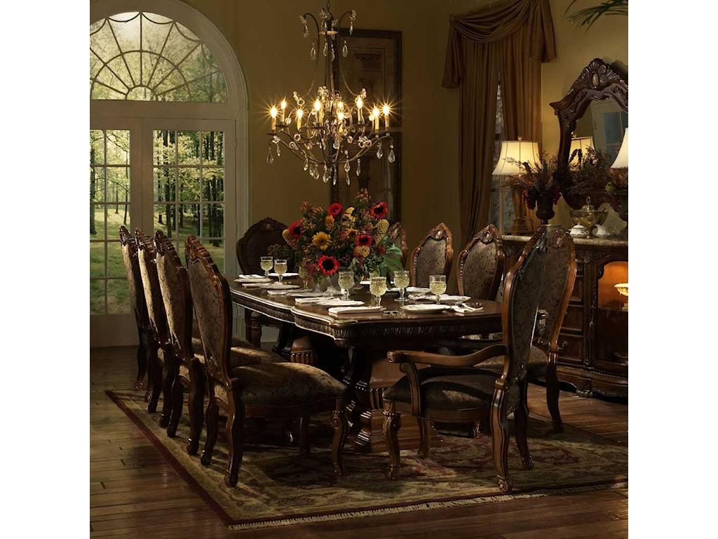 Michael Amini Cortina Beautiful Cherry Formal Dining Table ...