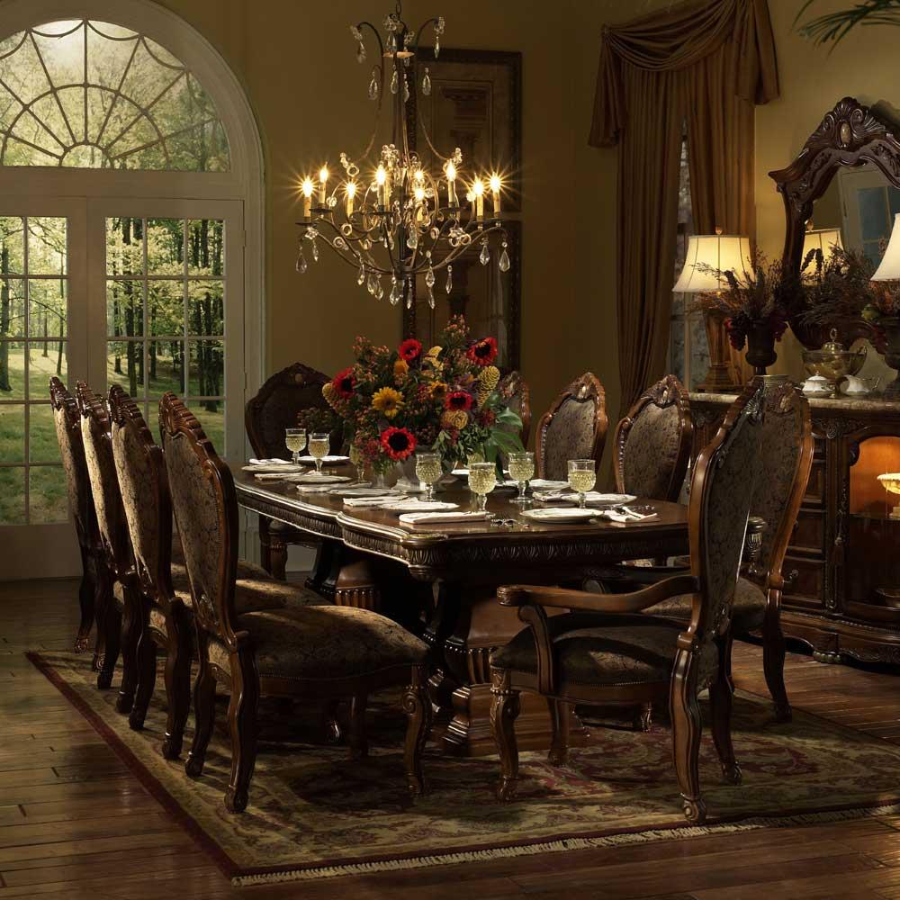 Michael Amini Cortina Beautiful Cherry Formal Dining Table   Hudsonu0027s  Furniture   Dining Room Table Part 63