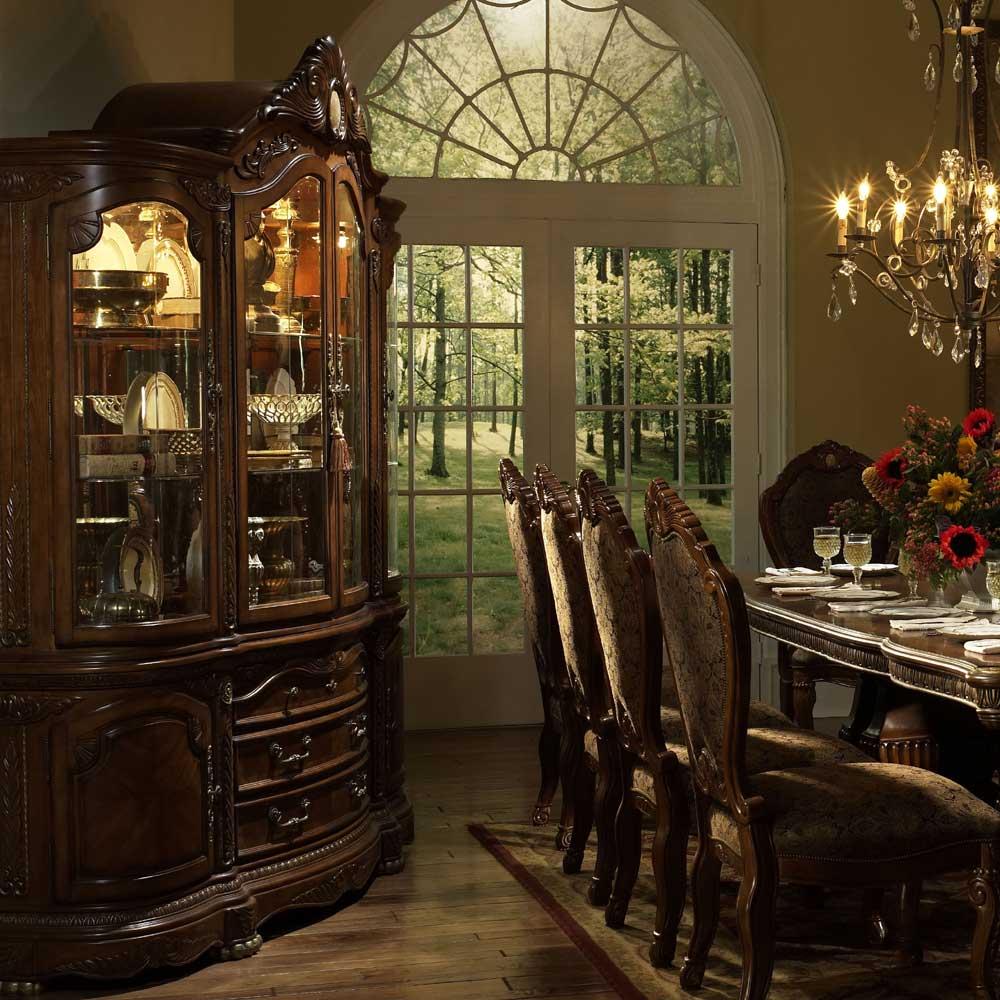 Michael Amini Cortina Beautiful Cherry China Top And Buffet   Hudsonu0027s  Furniture   China Cabinet