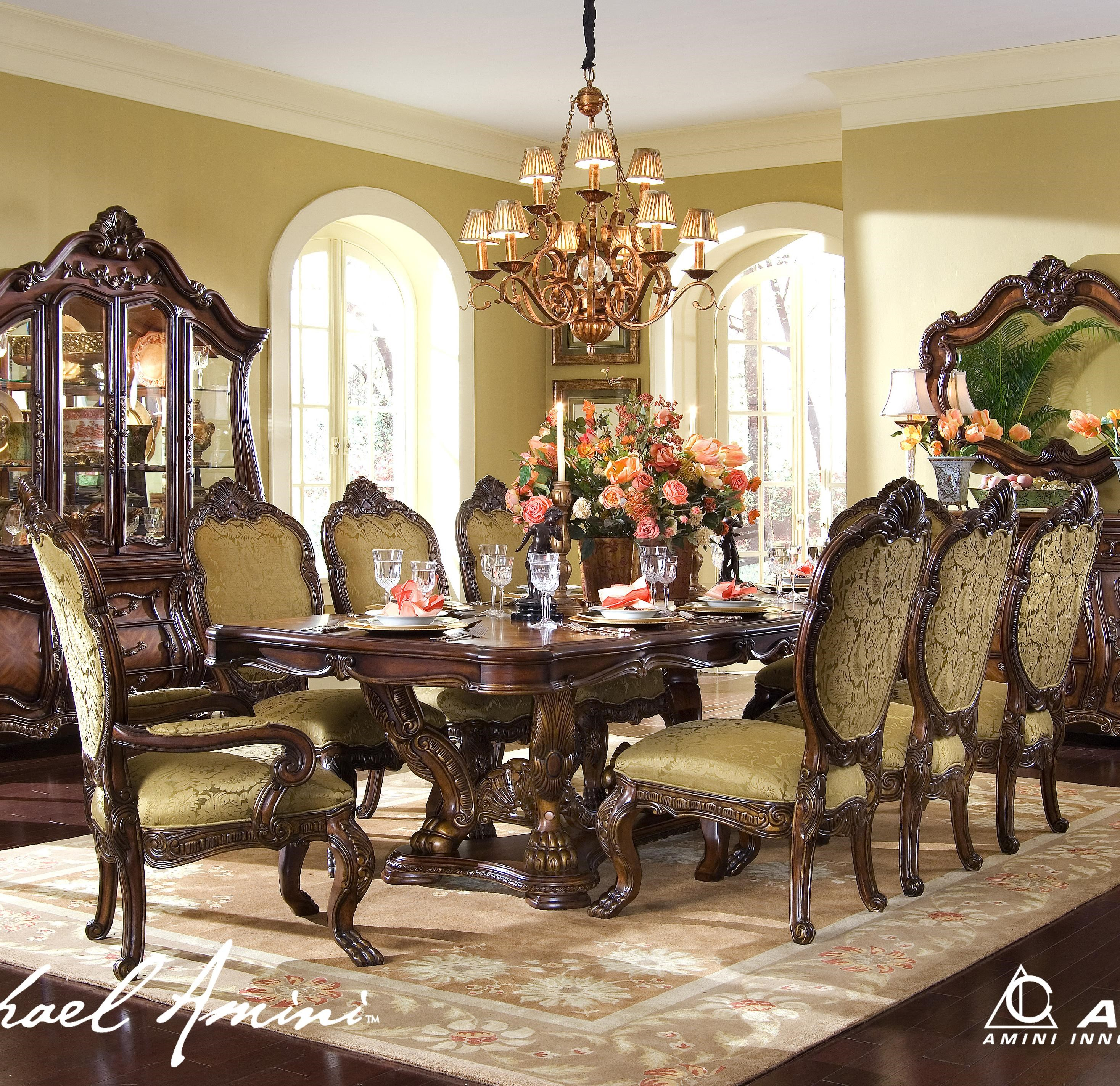 Michael Amini Chateau Beauvais9 Piece Formal Dining Room Set ...