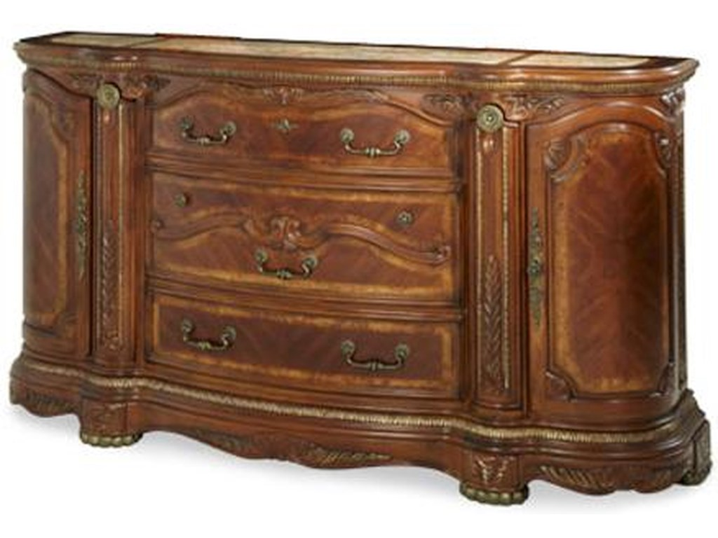 Michael Amini Cortina Nf65050 28 Ornate Traditional Three Drawer Two