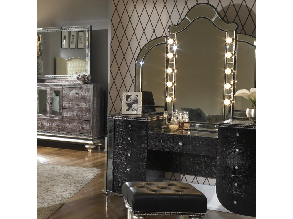 Vanity Shown with Mirror
