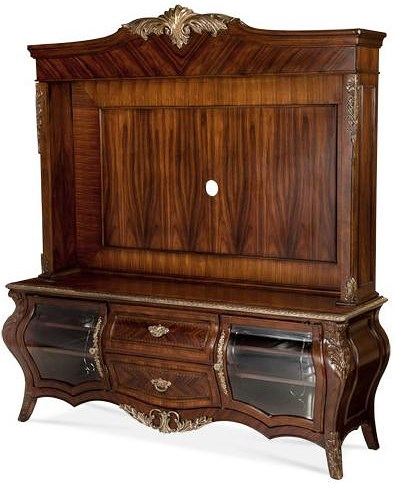 Michael Amini Imperial Court Entertainment Unit w/ 2 Drawers