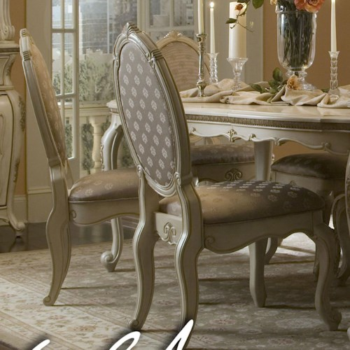 Michael Amini Lavelle Dining Side Chair with Oval Back