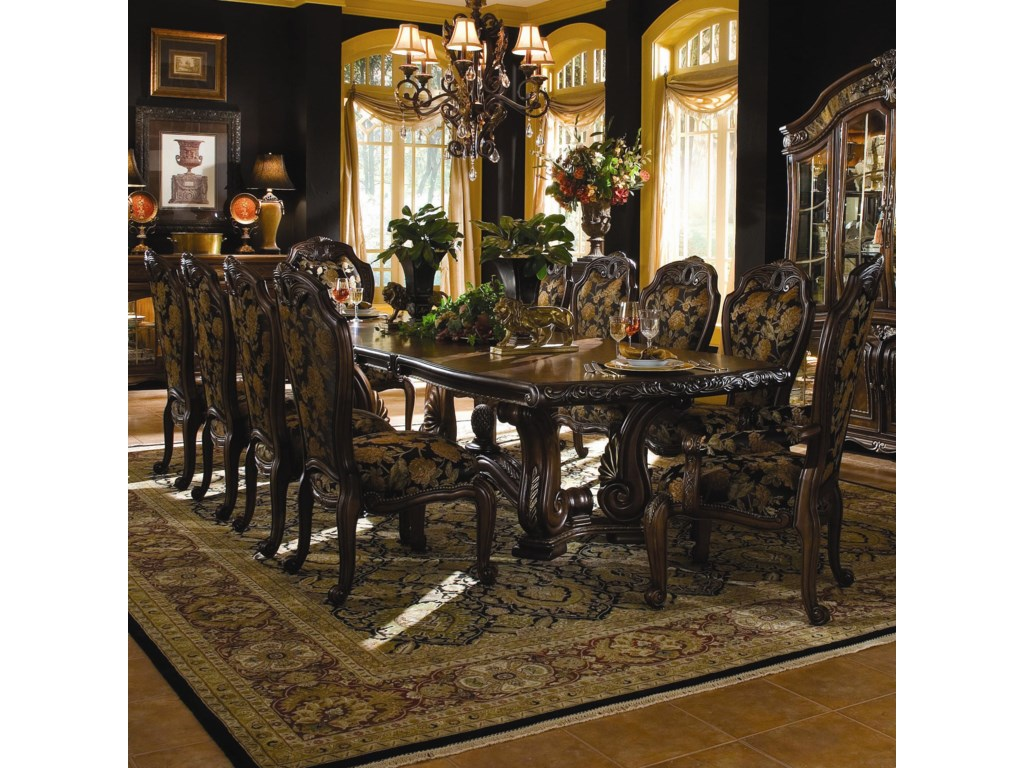 Dining table set traditional - Michael Amini Oppulente 11 Piece Rectangular Dining Table Set