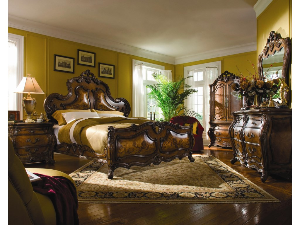 Shown with Double Dresser and Mirror, Armoire, Swivel Chair, and Nightstand - Bed Shown May Not Represent Size Indicated