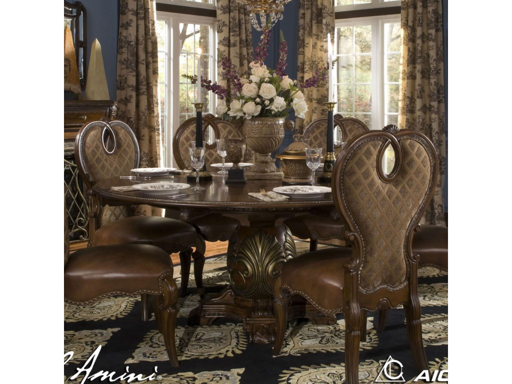 Emejing formal round dining room tables ideas for R way dining room furniture