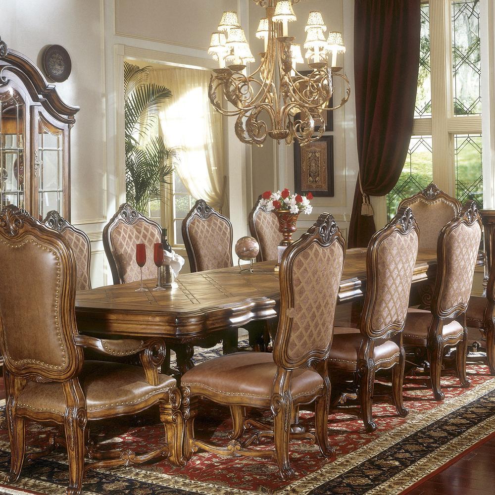 Michael Amini Tuscano Biscotti Leg Dining Table W/ 3 Leaves